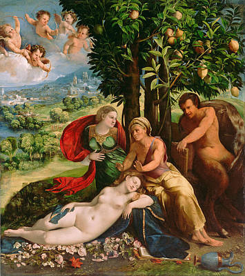 Dosso Dossi Painting - Mythological Scene by Dosso Dossi