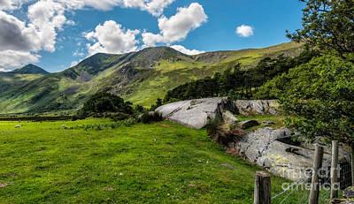 Field Digital Art - Nant Ffrancon Pass  by Adrian Evans