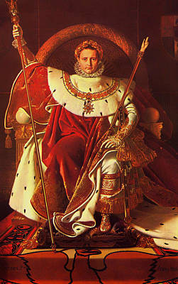 Wreath Painting - Napoleon I On His Imperial Throne by Mountain Dreams