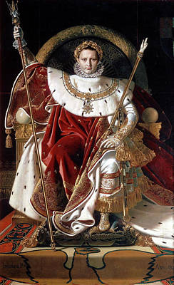 Monarch Painting - Napoleon On His Imperial Throne by Jean-Auguste-Dominique Ingres