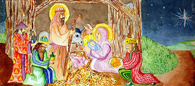 Painting - Nativity by Jame Hayes