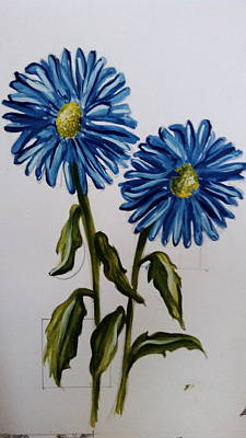 Aster Drawing - Nature by Pooja Kukreja