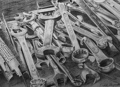 Debt Drawing - Need A Wrench? by Frank Zampardi