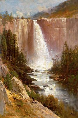 Thomas Hill Painting - Nevada Falls. Yosemite by Thomas Hill