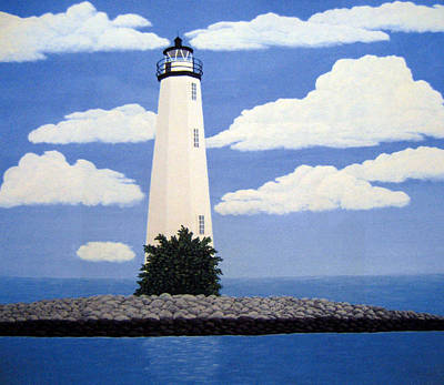 Historic Lighthouse Images Painting - New Point Comfort Lighthouse by Frederic Kohli