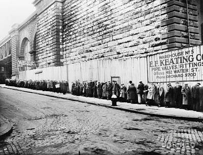 Bread Line Photograph - New York City: Bread Line by Granger