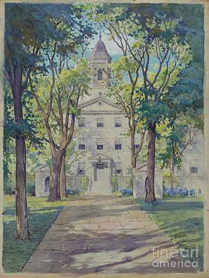 Walkway Drawing - New York City Hospital by Gilbert Sackerman