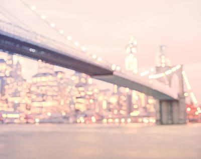 New York City - Lights At Night Print by Vivienne Gucwa