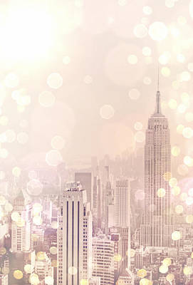 New York City Rooftop Photograph - New York City - Skyline Dream by Vivienne Gucwa