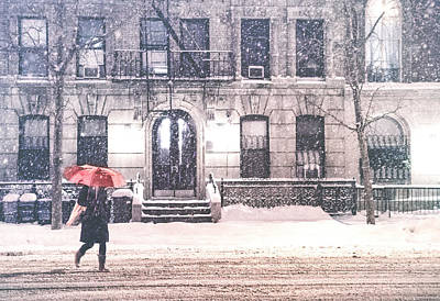Urban Street Photograph - New York City Snow by Vivienne Gucwa