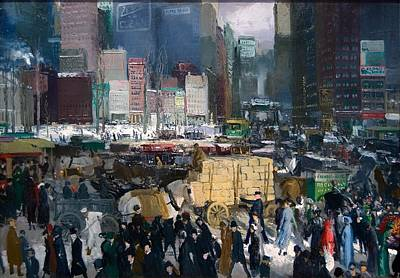 Police Art Painting - New York by Mountain Dreams