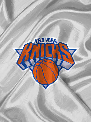 Uniforms Digital Art - New York Knicks by Afterdarkness
