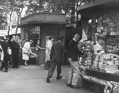 Routine Photograph - New York Newspaper Stand by Underwood Archives