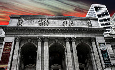 Library Photograph - New York Public Library by Martin Newman