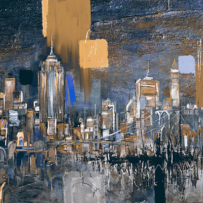 Moma Painting - New York Skyline 198 3 by Mawra Tahreem