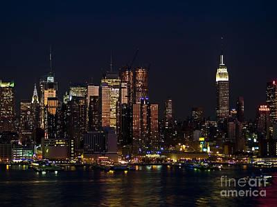 New York Skyline View Print by Andrew Kazmierski