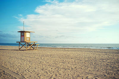 Newport Beach Lifeguard Tower Print by Tanya Harrison