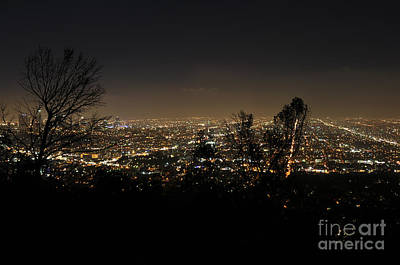 Night At Griffeth Observatory Print by Clayton Bruster