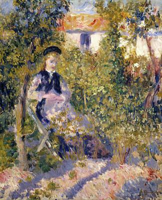 Women Painting - Nini In The Garden by Pierre-Auguste Renoir