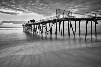 Shore Photograph - Nj Shore Dawns Early Light Bw by Susan Candelario