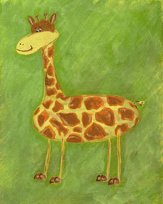 Baby Giraffe Painting - Norman The Giraffe by Katie Carlsruh