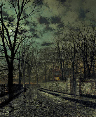 November Print by John Atkinson Grimshaw