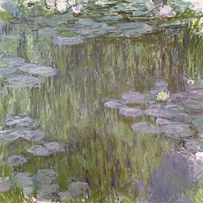 Waterlilies Painting - Nympheas At Giverny by Claude Monet