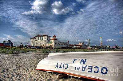 Boardwalk Photograph - Ocean City Lifeboat by John Loreaux