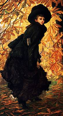 Kathleen Painting - October by James Jacques Joseph Tissot