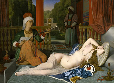 Instrument Painting - Odalisque With Slave by Jean-Auguste-Dominique Ingres