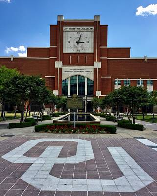 Oklahoma University Photograph - Oklahoma Memorial Stadium by Center For Teaching Excellence