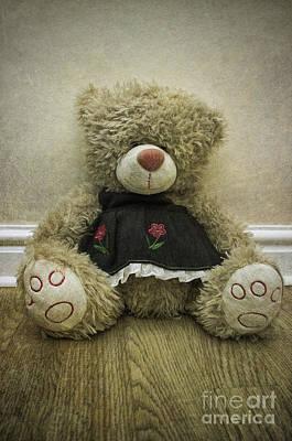 Cuddly Digital Art - Old Bear by Ian Mitchell