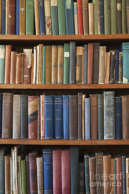 Old Books On A Bookshelf Print by Paul Edmondson