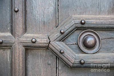 Old Door Detail Print by Elena Elisseeva