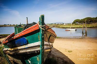 Old Fishing Boat Print by Carlos Caetano