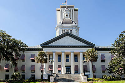 Capitol Building Drawing - Old Florida Capitol by Frank Feliciano