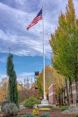 Old Glory Waving In The Wind Oregon. Original by Gino Rigucci