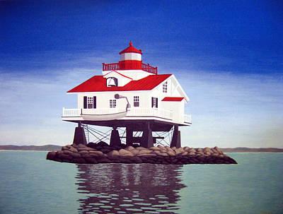 Historic Lighthouse Images Painting - Old Plantation Flats Lighthouse by Frederic Kohli