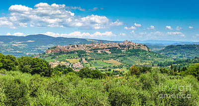 Cityscape Photograph - Old Town Of Orvieto, Umbria, Italy by JR Photography