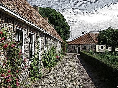 Old Village Print by Steve K