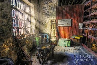 Olde Victorian Slate Workshop Print by Ian Mitchell