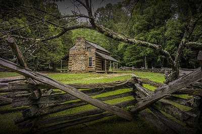 Log Cabin Photograph - Oliver Cabin In Cade's Cove by Randall Nyhof