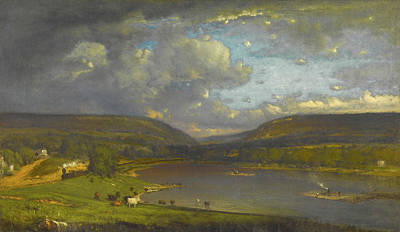 George The Painter Painting - On The Delaware River by George Inness