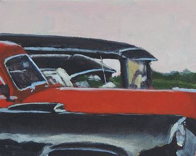 Black And Orange  Original by Bill Tomsa