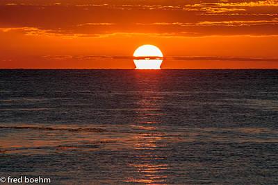 Sunset Photograph - Orange Crush by Fred  Boehm