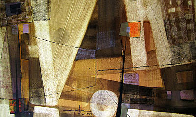 Cosmos Painting - Os1959ar013ba Abstract Landscape Of Potosi Bolivia 15.6 X 26.6 by Alfredo Da Silva
