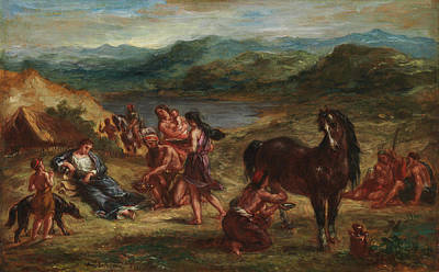 Scythian Painting - Ovid Among The Scythians by MotionAge Designs