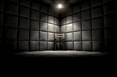 Psychiatric Digital Art - Padded Cell And Empty Chair by Allan Swart