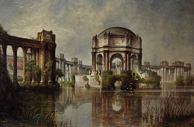 Palace Of Fine Arts And The Lagoon Print by Edwin Deakin