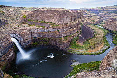 Canyon Photograph - Palouse Falls by Mike Reid